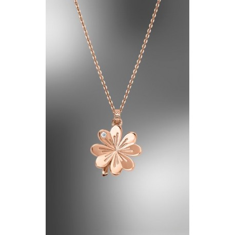 COLLAR LOTUS TRENDY TREBOL ROSÉ